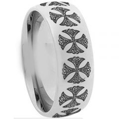 COI Titanium Cross Dome Court Ring - 1289
