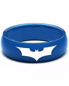 *COI Blue Titanium Batman Dome Court Ring - JT1433AA