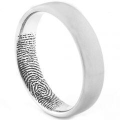 COI Titanium Custom FingerPrint Dome Court Ring - 1531