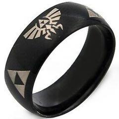 COI Black Titanium Legend of Zelda Dome Court Ring - 2376
