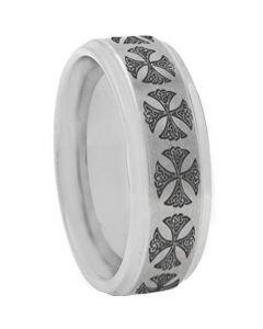 COI Titanium Cross Step Edges Ring - 2419