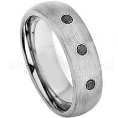 COI Titanium Dome Court Ring With Genuine Diamond - JT2621