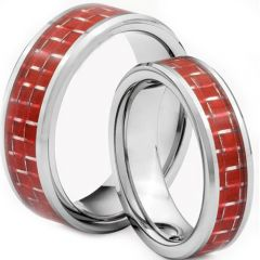 COI Titanium Beveled Edges Ring With Carbon Fiber - JT1446AA