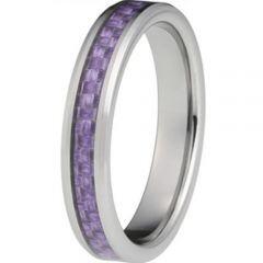 COI Titanium Beveled Edges Ring With Carbon Fiber - JT2325AA