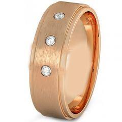COI Rose Titanium Step Edges Ring With Genuine Diamond - JT3079