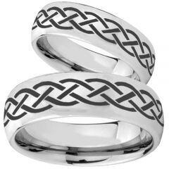 COI Titanium Celtic Dome Court Ring - 3096