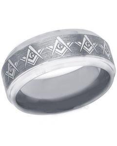 COI Titanium Masonic Step Edges Ring - 3271