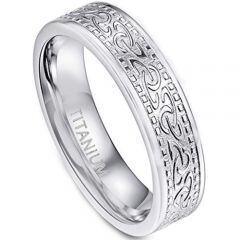 COI Titanium Celtic Wedding Band Ring - JT3287BB