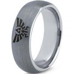 COI Titanium Legend of Zelda Dome Court Ring - 3487
