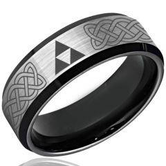 COI Titanium Legend of Zelda Celtic Beveled Edges Ring - 3493
