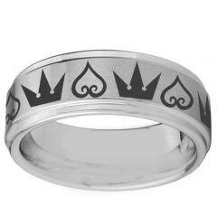 COI Titanium Kingdom and Heart Step Edges Ring - 3529