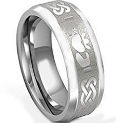 COI Titanium Mo Anam Cara Celtic Beveled Edges Ring - 3534