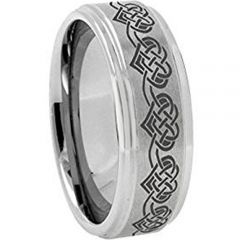 COI Titanium Heart Step Edges Ring - JT3212AAA
