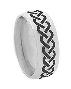 COI Titanium Dome Court Celtic Ring - JT3133AA