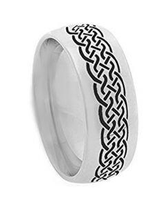 COI Titanium Celtic Dome Court Ring - JT2557AA
