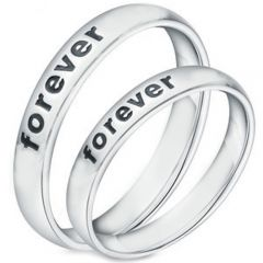 COI Titanium Forever Dome Court Ring - JT3678