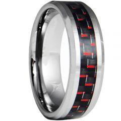 COI Titanium Beveled Edges Ring With Carbon Fiber - JT4122