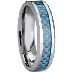 COI Titanium Beveled Edges Ring With Carbon Fiber-3708
