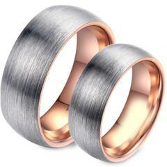COI Titanium Rose Silver Dome Court Ring - JT3714