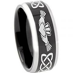COI Titanium Mo Anam Cara Celtic Beveled Edges Ring - 374AA