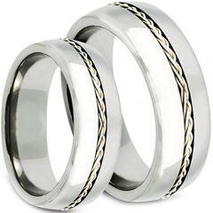 *COI Titanium Cable Dome Court Ring - 3798
