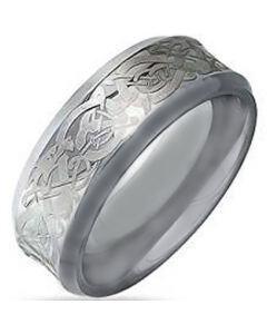 COI Titanium Dragon Concave Ring - JT3843