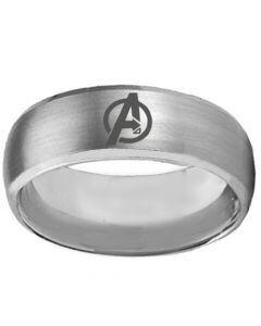 COI Titanium Marvel Avengers Beveled Edges Ring - 392