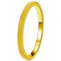 COI Gold Tone Titanium Dome Court Ring - JT3716