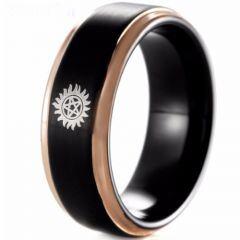 COI Titanium Black Rose Supernatural Step Edges Ring - 4645