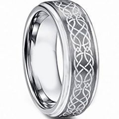COI Titanium Celtic Step Edges Ring - JT4118AA