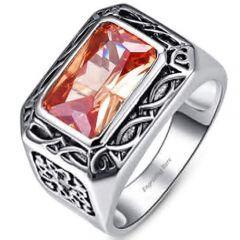 COI Titanium Silver 925 Ring With Cubic Zirconia-5220