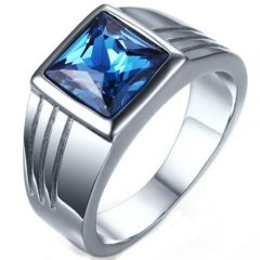 COI Titanium Ring With Cubic Zirconia-5237