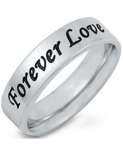 *COI Titanium Forever Pipe Cut Flat Ring-5251