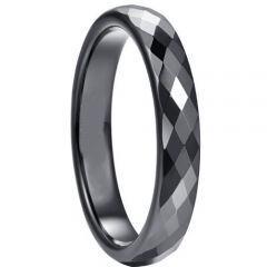 COI Black Titanium Faceted Ring-5264
