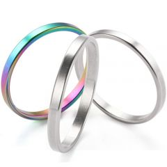 COI Titanium Rainbow Pride Ring(A Set of Three Rings)-5276