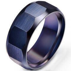 COI Black Titanium Faceted Ring-5280