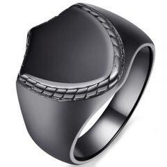 COI Black Titanium Biker Ring-5389