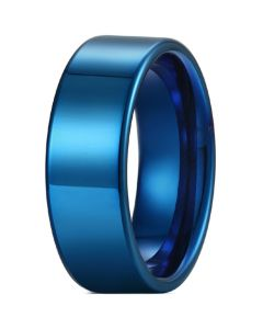 COI Blue Titanium 12mm Pipe Cut Flat Ring-5429