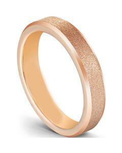 COI Rose Titanium Sandblasted Beveled Edges Ring-5602