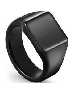 COI Black Titanium Signet Ring-5612