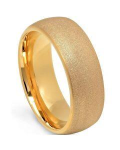 COI Rose Titanium Sandblasted Dome Court Ring-5663