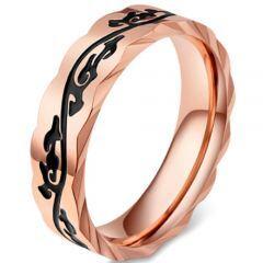 COI Titanium Black Rose Celtic Ring-5832