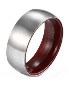 COI Titanium Dome Court Ring With Wood-5901
