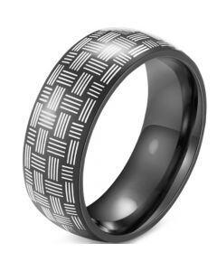 COI Black Titanium Dome Court Ring-5915