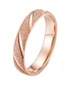 *COI Titanium Rose/Black/Silver Sandblasted Ring-5958
