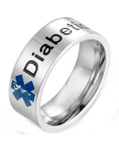 *COI Titanium Medical Alert Ring With Custom Engraving-5975