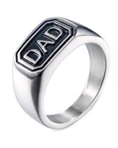 *COI Titanium Black Silver Daddy Ring-6000
