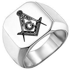 *COI Titanium Masonic Signet Ring-6027