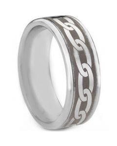 COI Titanium Celtic Double Grooves Ring - JT333AA