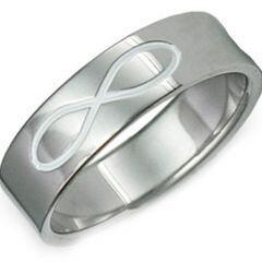 COI Titanium Infinity Pipe Cut Flat Ring-JT1066